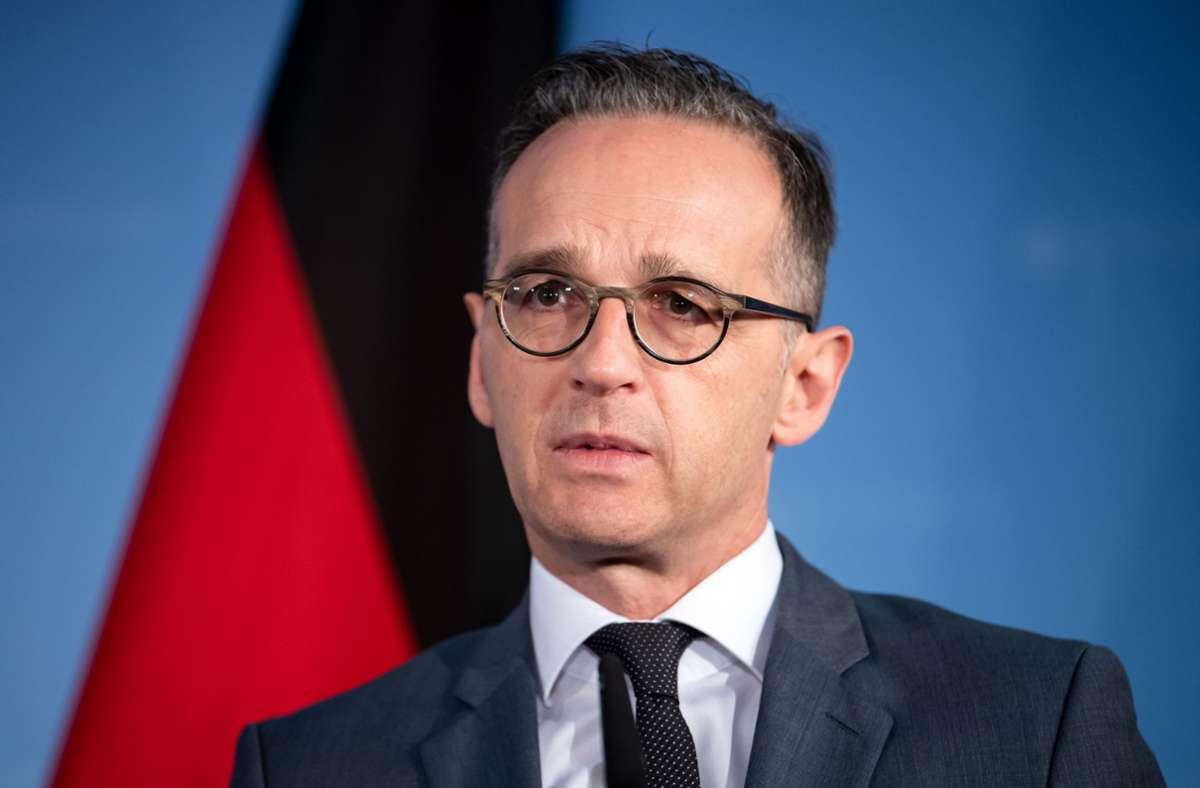 Heiko Maas kritisierte das Vorgehen der russischen Justiz am Dienstag scharf. (Archivbild) Foto: dpa/Bernd von Jutrczenka