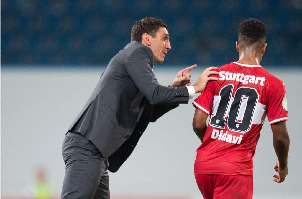 Da halfen alle Worte nichts mehr – der VfB hat gegen Hansa Rostock verloren. Foto: Pressefoto Baumann