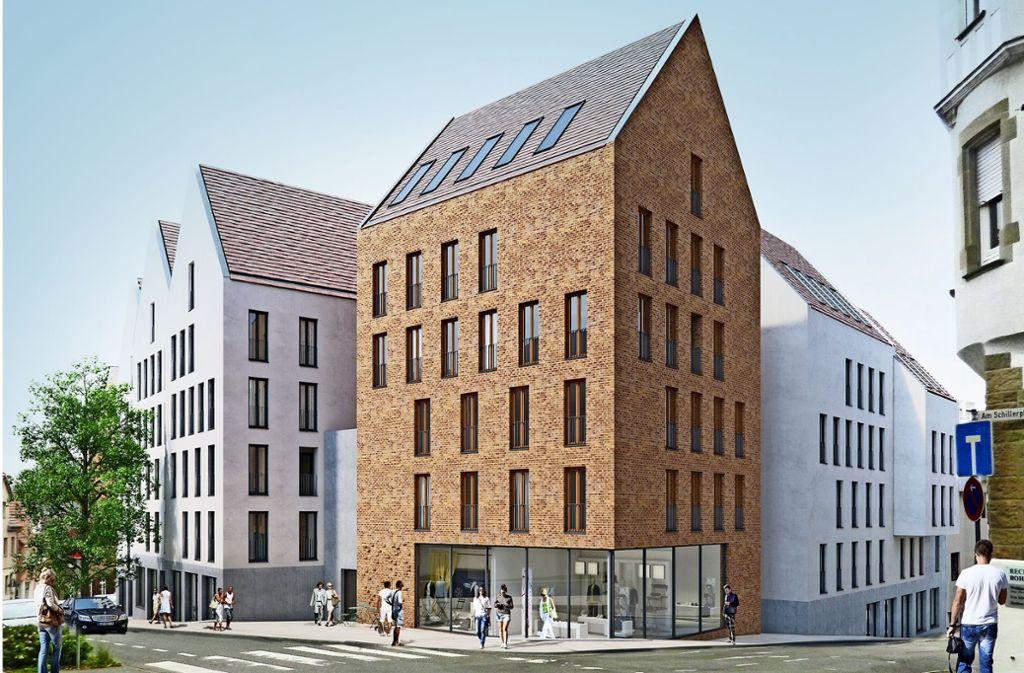 So sollen die Kronenhöfe Mitte 2021 aussehen. Foto: Baurmann und Dürr