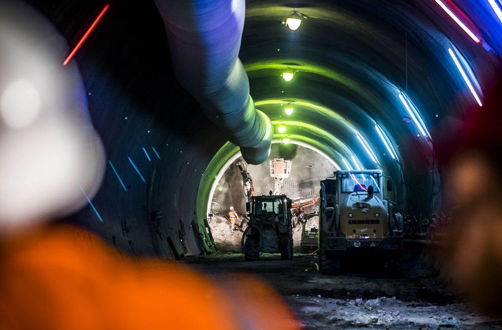 Der Tunnelbau der Bahn unter Stuttgart kommt trotz mancher Schwierigkeiten voran. Foto: Lichtgut/Max Kovalenko