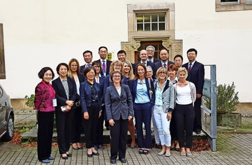 Chinesische Richter sind zu Besuch am Amtsgericht