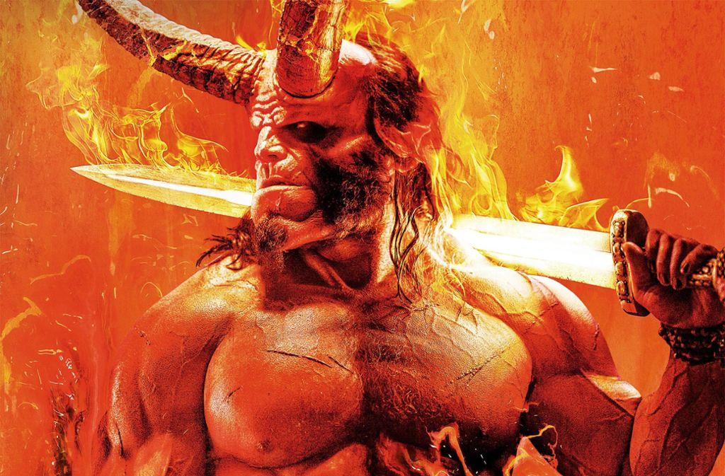 Flammendes Haupt, flammendes Schwert:  Hellboy ist ein   Apokalyptiker Foto: Verleih