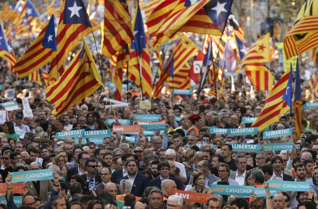 Proteste in Barcelona gegen die Zentralregierung in Madrid. Foto: AFP