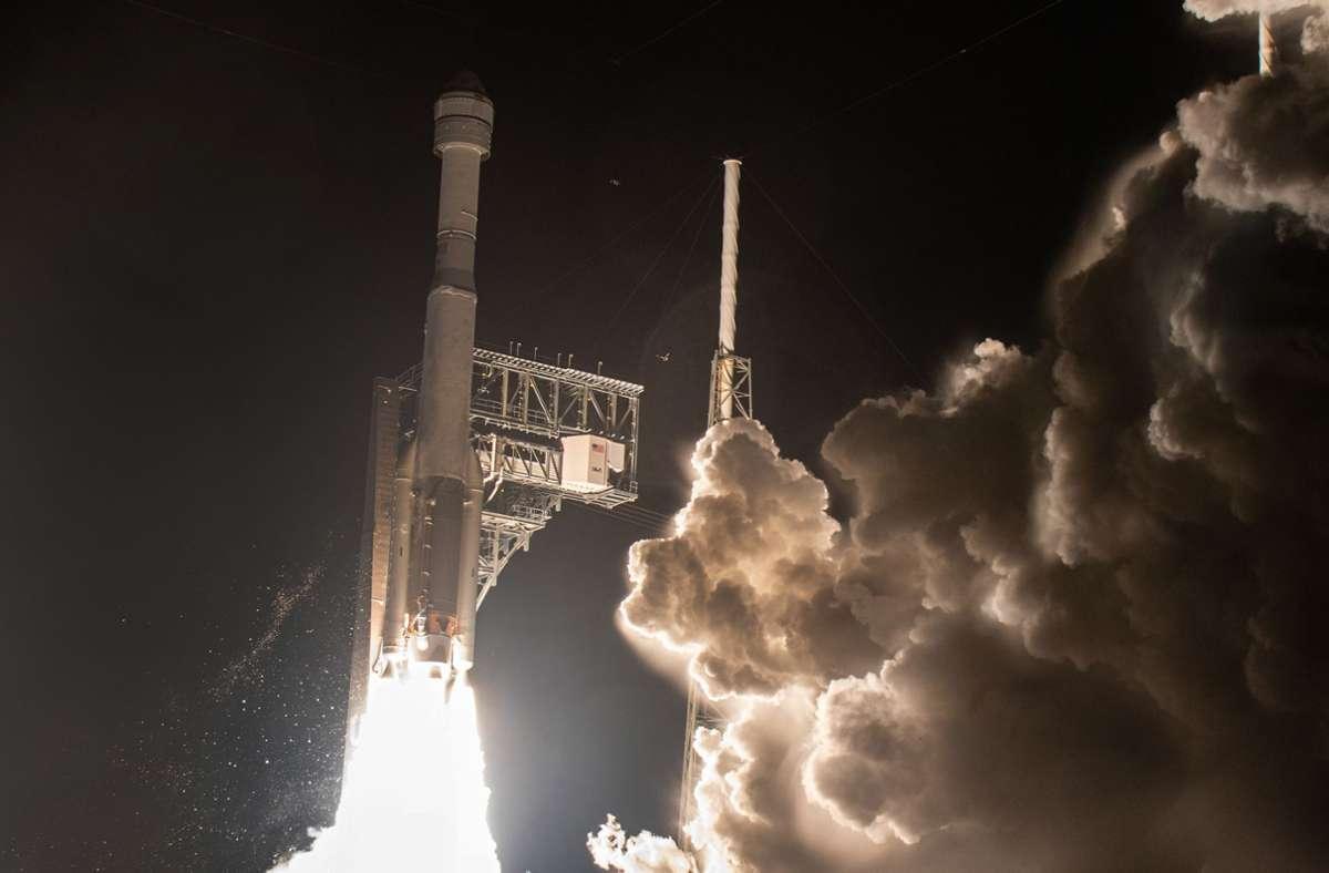 """Bereits im Dezember 2019 versuchte Boeing eine """"Starliner""""-Kapsel zur ISS zu bringen – ohne Erfolg. (Archivbild) Foto: Gene Blevins/ZUMA Wire/dpa"""