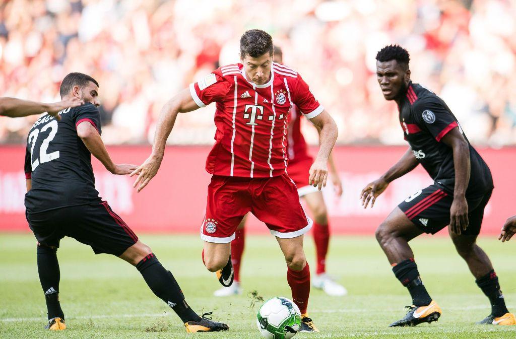 Robert Lewandowski blieb gegen die Mailänder ohne Treffer. Foto: Power Sport Images