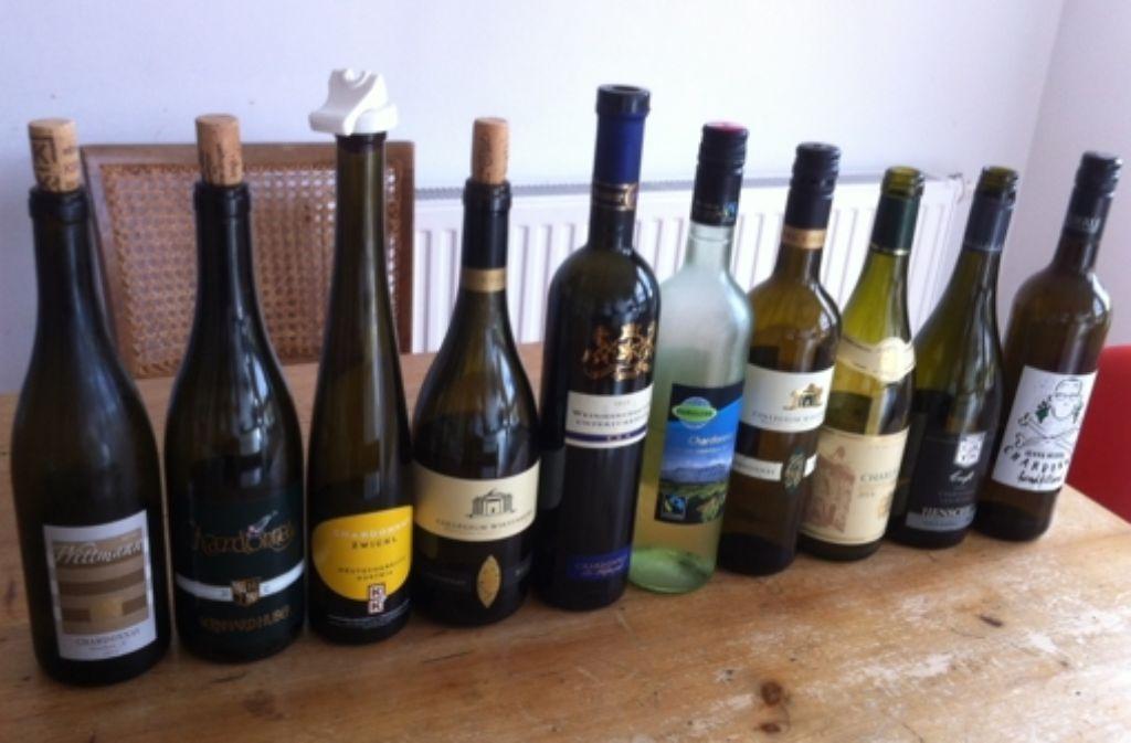 Die aufgedeckte Blindprobe: Der vorletzte Wein überzeugte am meisten Foto: Weier