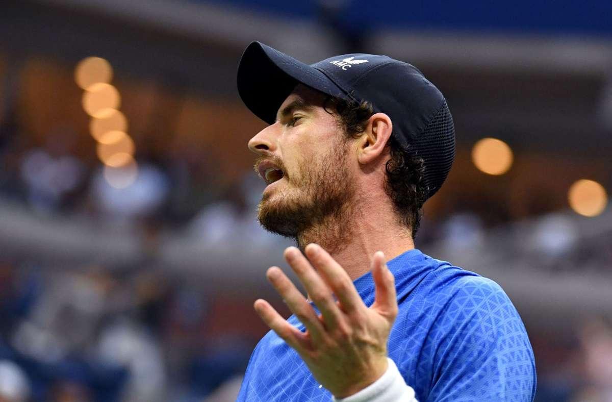 Andy Murray ist genervt  – vor allem von Stefanos Tsitsipas. Foto: AFP/ANGELA WEISS