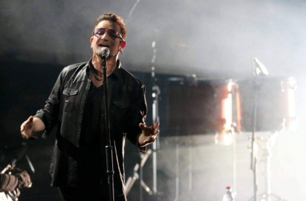 Bono wird sich an seinen Fahrradunfall noch lange erinnern können. Foto: dpa