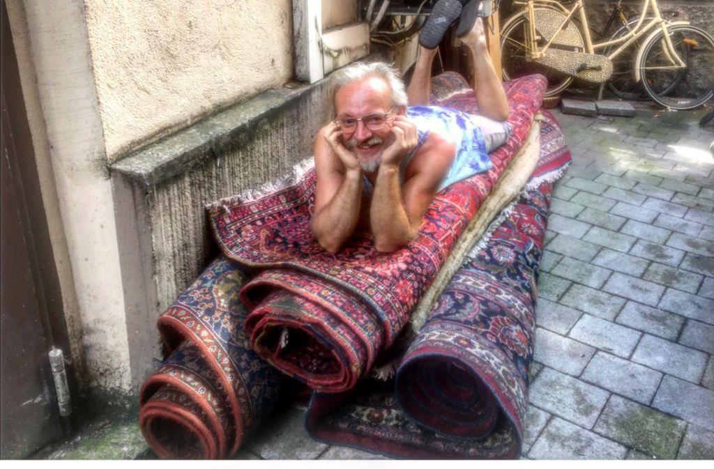 Galao-Chef Reiner Bocka will seine Teppiche zurück. Foto: Tanja Simoncev