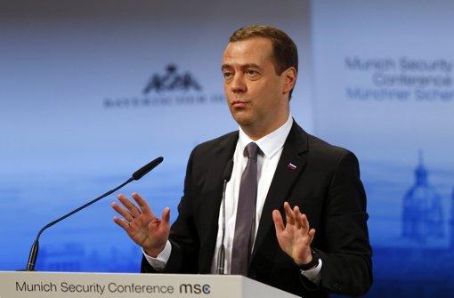 """Medwedew sieht """"neuen kalten Krieg"""""""