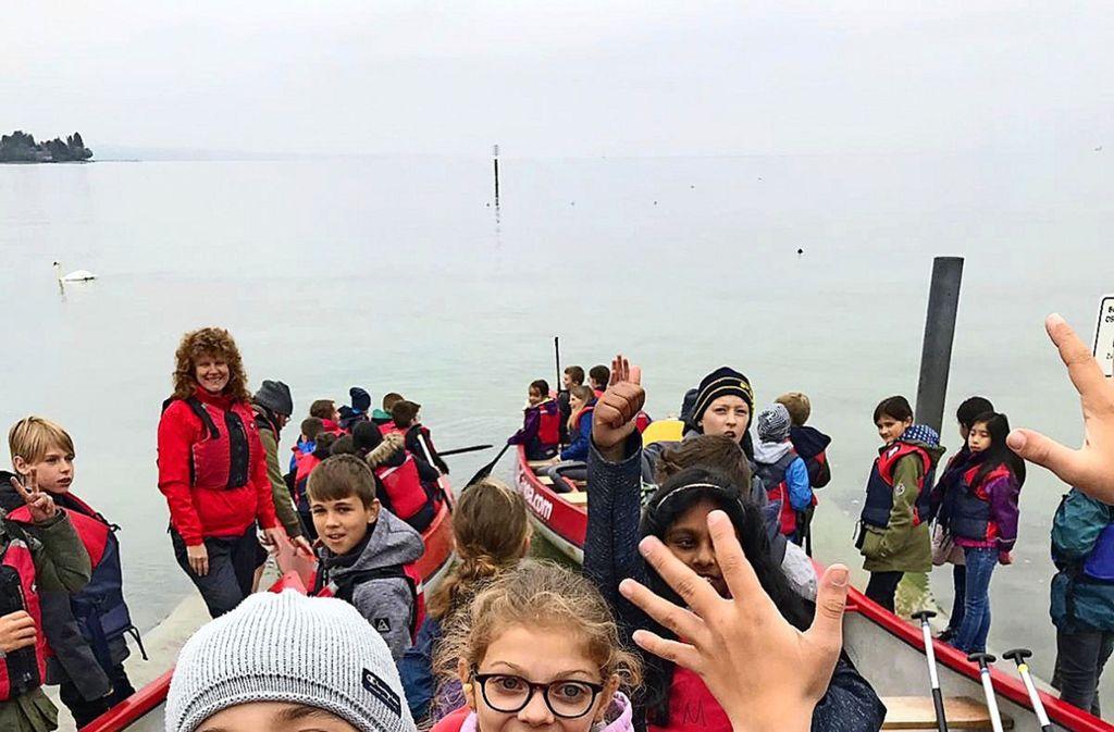 Die Schüler aus Stuttgart und Bennwihr hatten viel Spaß am Bodensee. Foto: Vera Haller