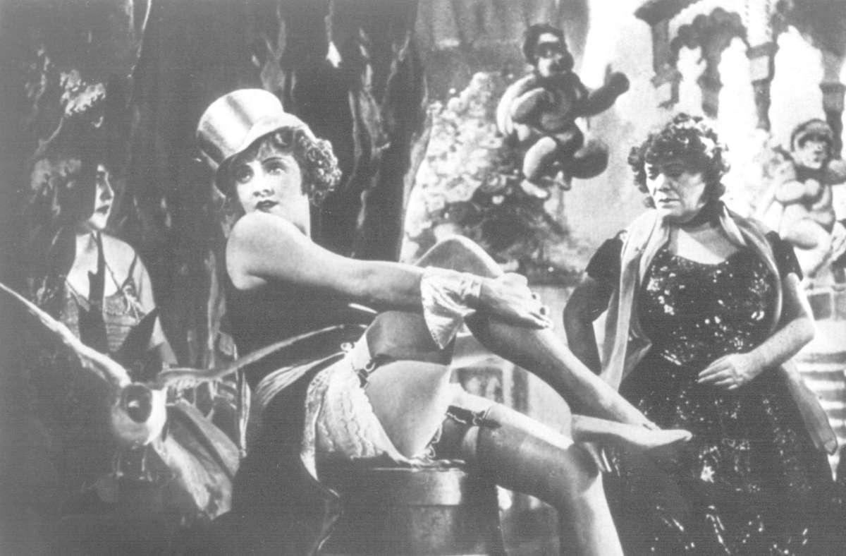 """Jetzt auch in der ARD-Mediathek: Marlene Dietrich im Klassiker """"Der blaue Engel"""" Foto: dpa"""