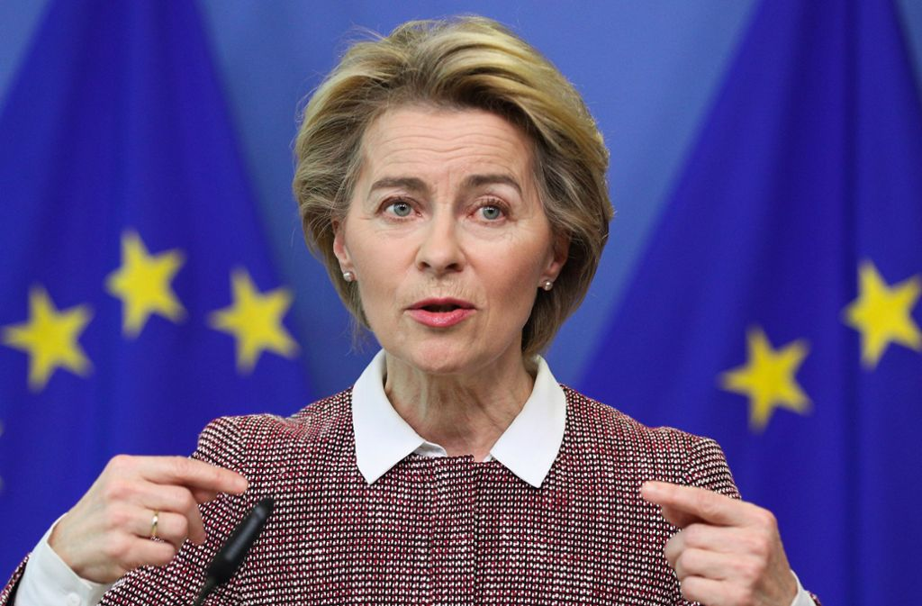 EU-Kommissionspräsidentin Ursula von der Leyen initiiert die Spendenaktion der EU für die Suche nach einem Impfstoff gegen das Coronavirus. Foto: dpa/Zheng Huansong