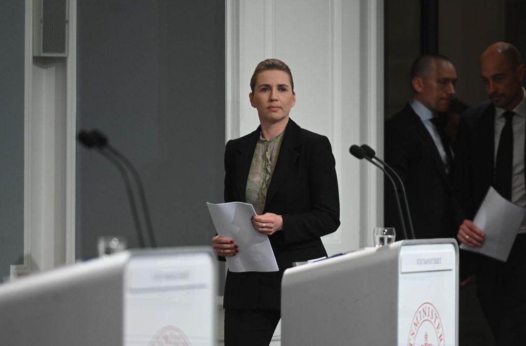 Dänemarks Ministerpräsidentin Mette Frederiksen Foto: AFP/PHILIP DAVALI