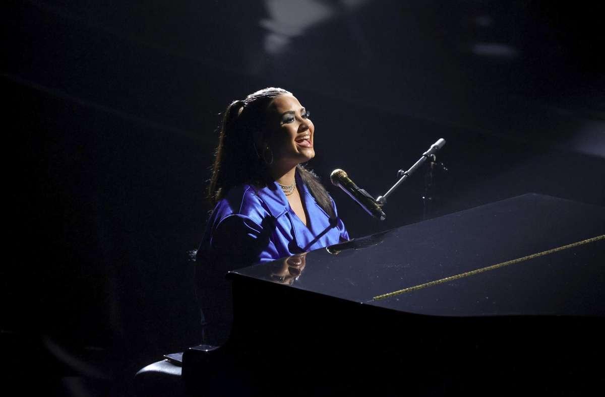 Demi Lovato performte ihren neuen Song bei den Billboard Music Awards in Los Angeles. Foto: AP/Rich Polk
