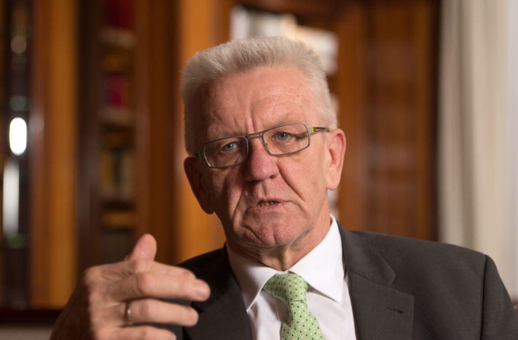 Der baden-württembergische Ministerpräsident Winfried Kretschmann (Bündnis 90/ Die Grünen) hält die Grünen-Doppelspitze für überholt. Die Parteimitglieder sehen das anders. Foto: dpa
