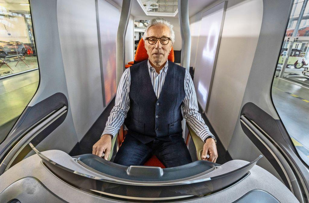 Mit Blick in die Zukunft: Johann Tomforde in seinem neuen Fahrzeug namens Uccon Foto: factum/