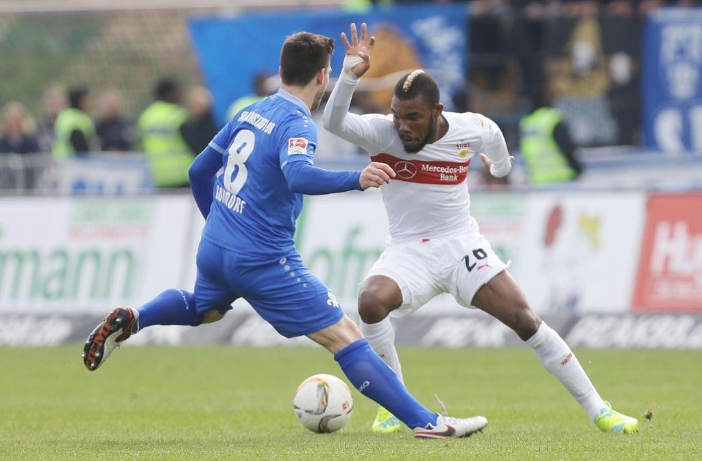 Serey Dié zog sich beim Spiel in Darmstadt einen Sehnenriss zu und fällt mehrere Monate aus. Foto: Pressefoto Baumann