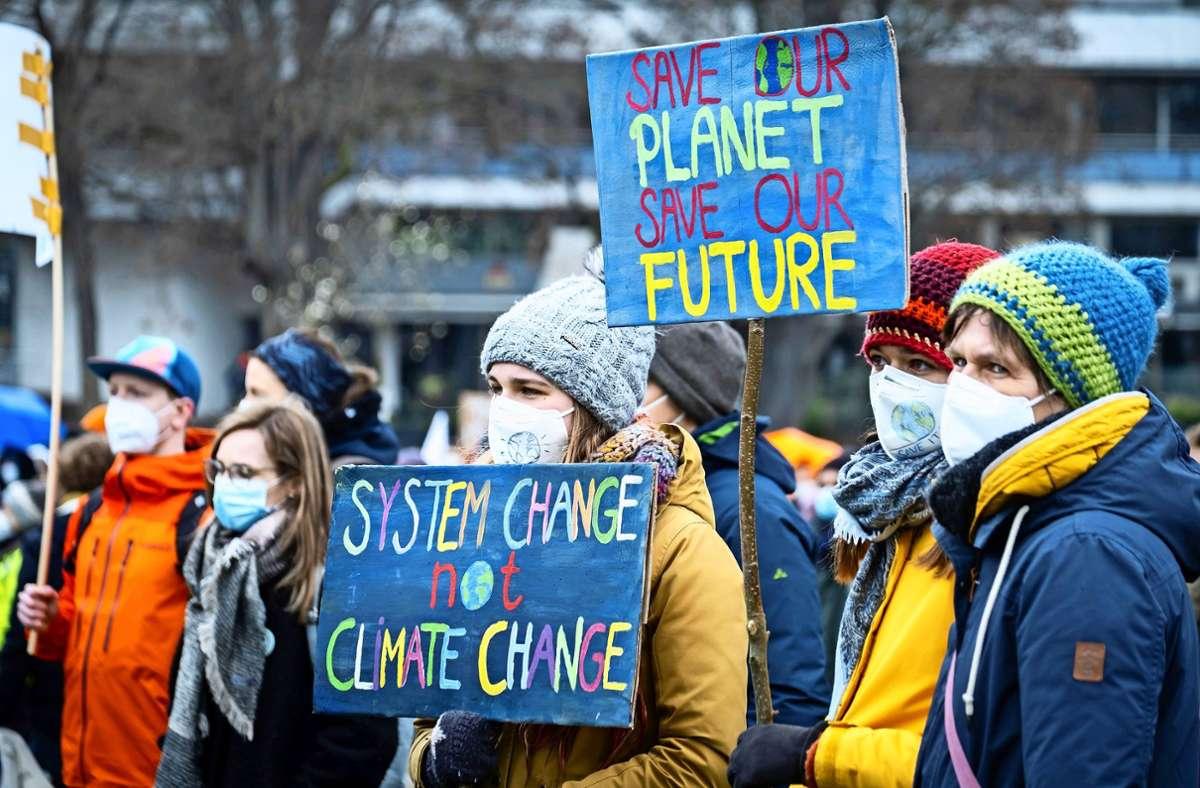 Sie fordern Taten, um die Erderwärmung zu begrenzen. Foto: Lg/Zweygarth