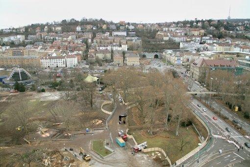 Unter  Häusern links vom Wagenburgtunnel  sollen Tunnel verlaufen. Foto: Archivbild: factum/Granville