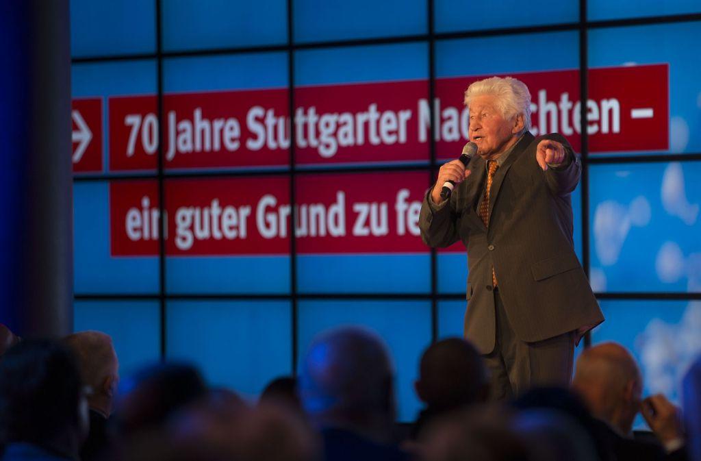 Herr der Hörscharen: Gotthilf Fischer bei der 70-Jahr-Feier der Stuttgarter Nachrichten Foto: Lichtgut/Leif Piechowski