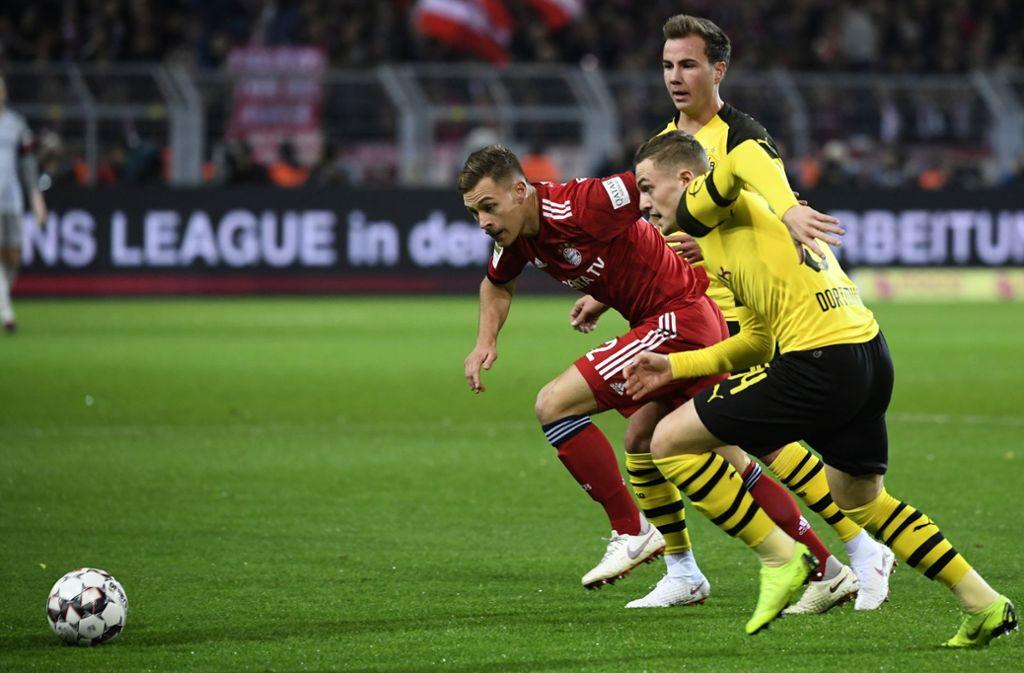 Wer hat am Samstag die Nase vorn? Der FC Bayern empfängt Borussia Dortmund. Foto: dpa