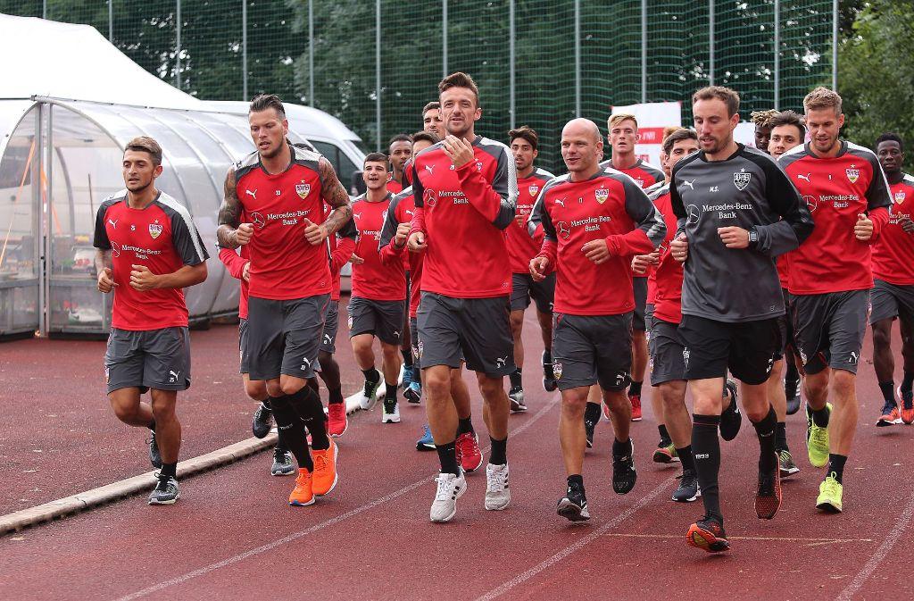 Der VfB Stuttgart fühlt sich beim ASV Grassau wohl. Foto: Pressefoto Baumann