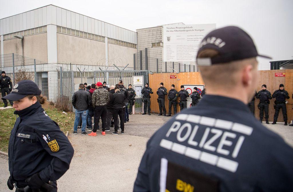 Beim Prozess in Stammheim ist die höchste Sicherheitsstufe angesagt. Foto: dpa