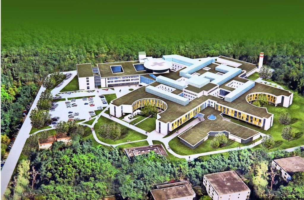 So wird die Anlage nach der 112-Millionen-Euro-Sanierung aussehen. Foto: Pressefoto Horst Rudel