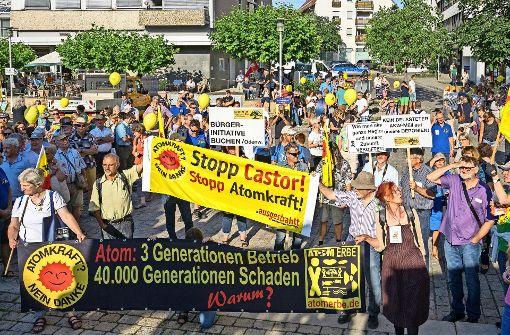 Protest gegen Atomschutt