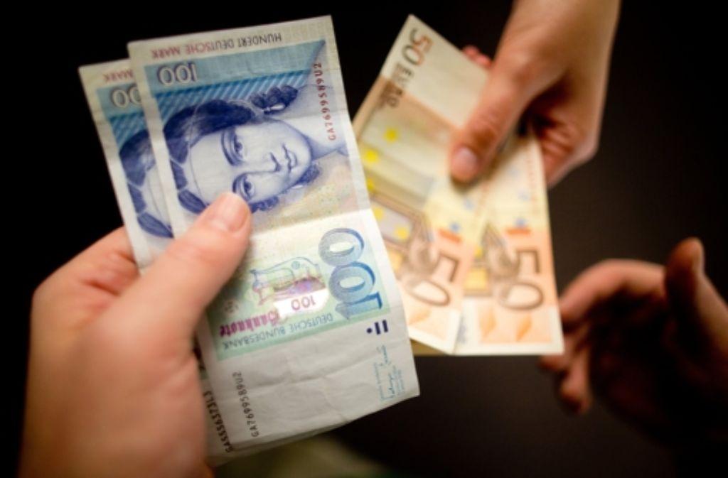 13 Jahre nach dem Wechsel zum Euro sind immer noch knapp 13 Milliarden D-Mark im Umlauf. Foto: dpa