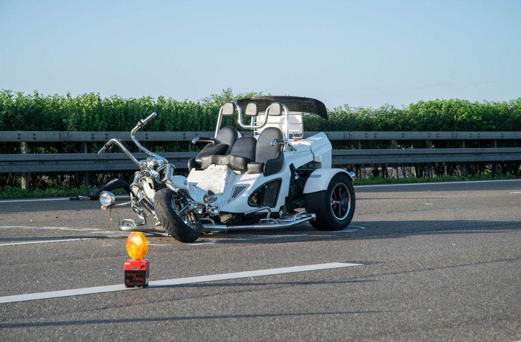 Bei dem Unfall mit einem Trike an Fronleichnam wurden auch die Ehefrau des Fahrers und die Tochter verletzt. Der Fahrer verstarb nun an seinen schweren Verletzungen. (Archivfoto) Foto: 7aktuell.de/Nils Reeh