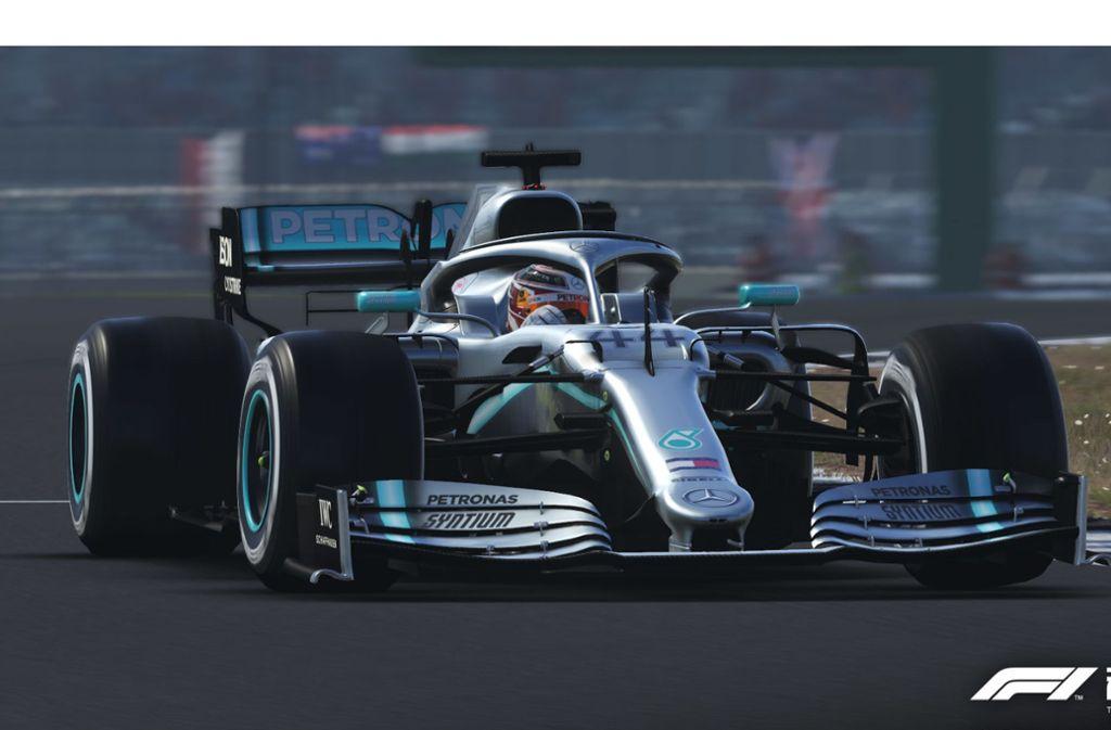 Ob Silberpfeil oder Ferrari: In  F1 2019 sind alle Boliden der Formel 1 und Formel 2    detailgetreu nachempfunden worden. Foto: Koch Media