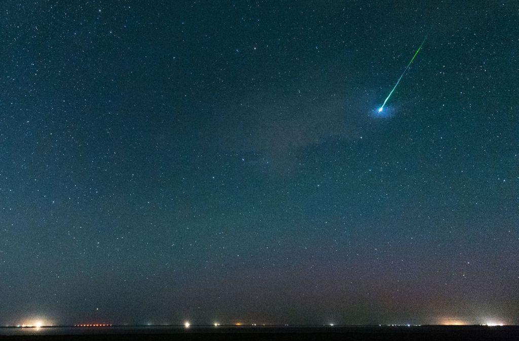 Solch eine Sicht auf die Sternschnuppen gibt es in dieser Woche eher selten. Foto: Matthias Balk/dpa