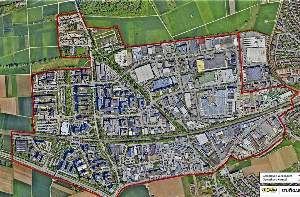 Die Entwicklung des  Gewerbegebiets Weilimdorf wird im UTA als auch im Bezirksbeirat in dieser Woche ein Thema. Foto: LHS Stuttgart