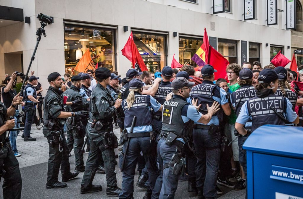 Ein spontaner Antifa-Aufzug am 29. August hat ein Nachspiel. Foto: Lichtgut/Julian Rettig