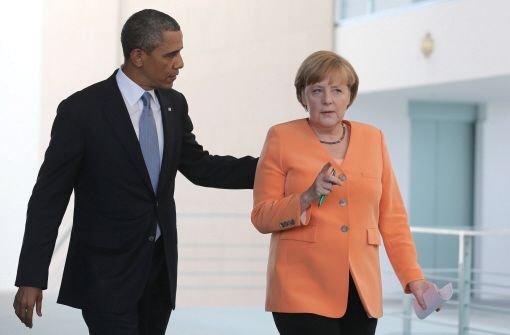 Obama will es mit Merkel nicht verderben