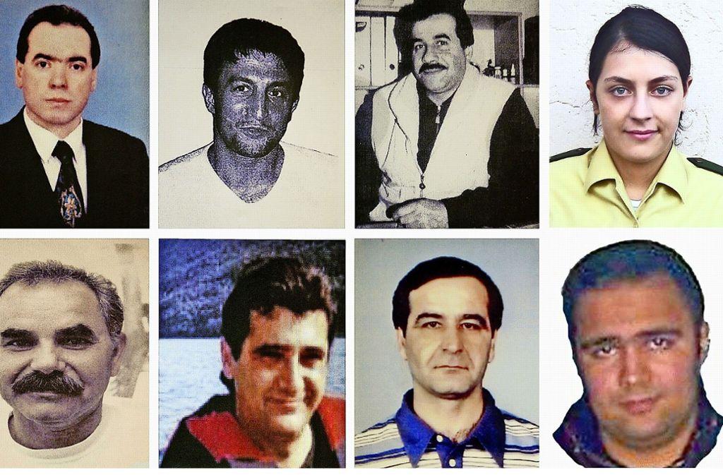 Die Opfer des NSU-Serie. Foto: dpa
