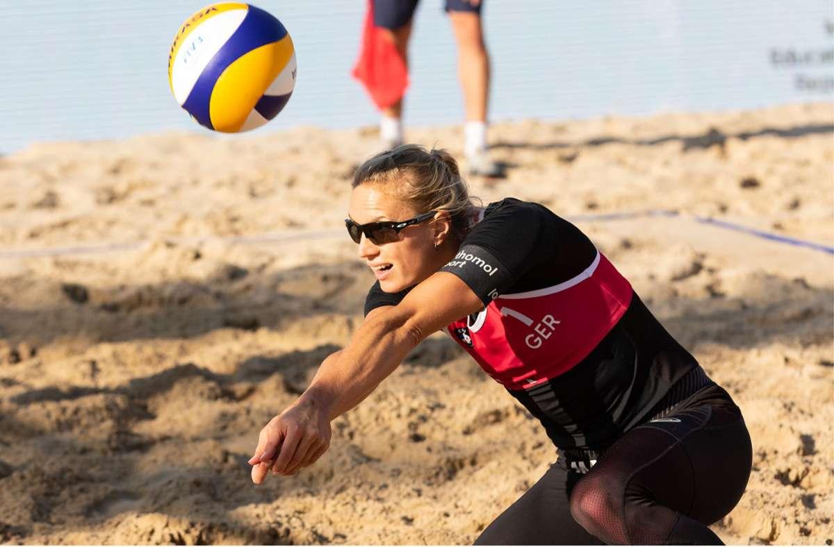 Kim Behrens musste sich mit ihrer Partnerin Cinja Tillmann erst im Finale geschlagen geben. Foto: CEV EuroBeachVolley/Morozov Vadim