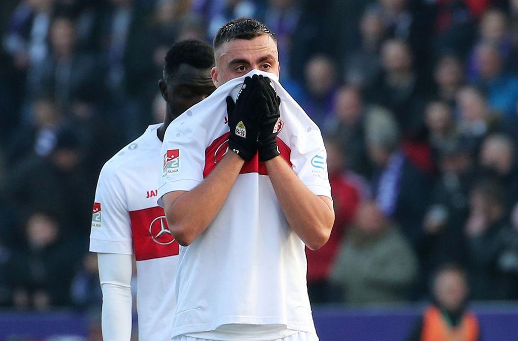 Der VfB Stuttgart scheiterte in Osnabrück wieder einmal an seiner unzureichenden Chancenverwertung. Foto: Pressefoto Baumann/Julia Rahn