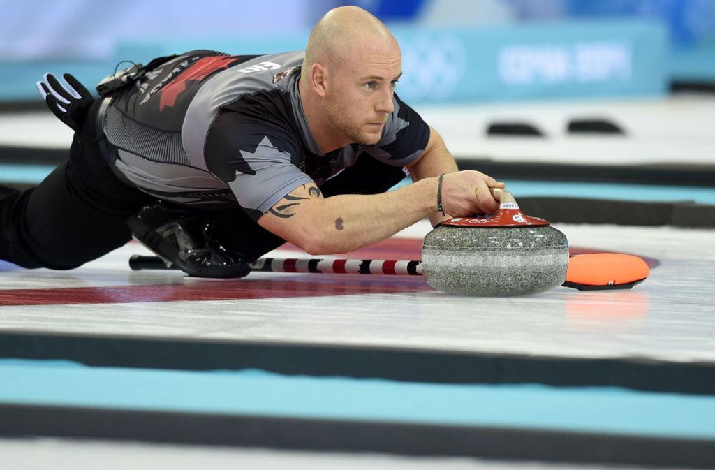 Ryan Fry und seine Curling-Teamgefährten haben sich ordentlich daneben benommen. Foto: AFP