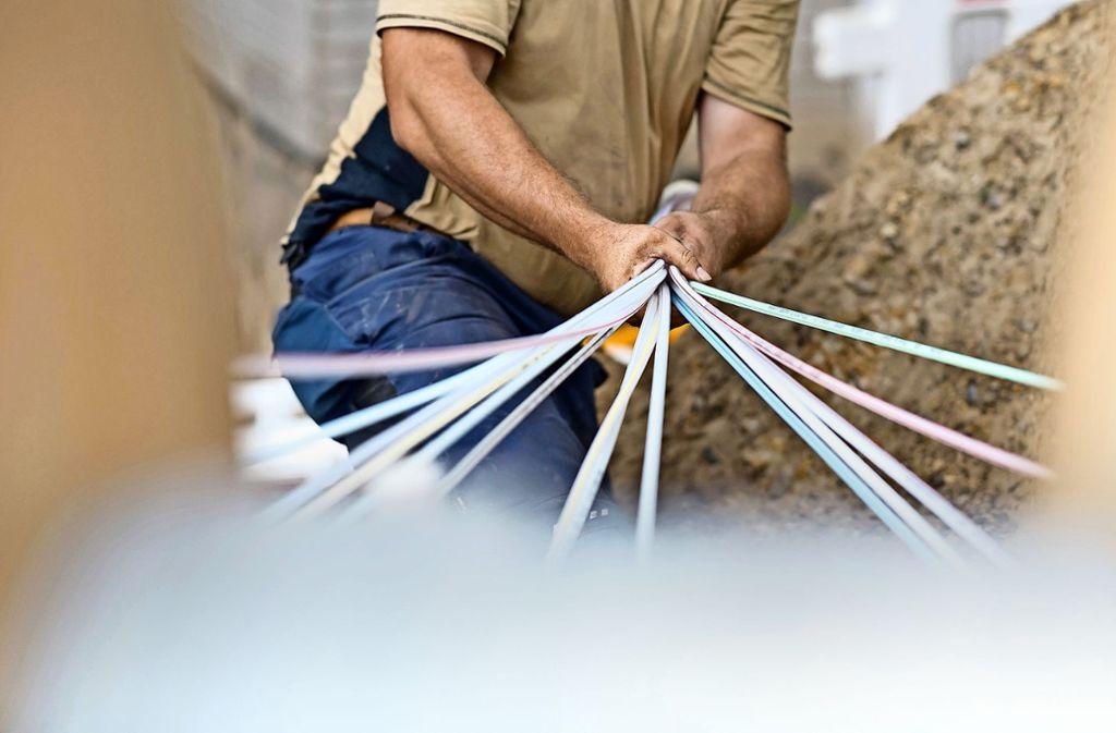 Dynamisches Anpacken wünschen sich die Kommunen auch von der Telekom. Foto: dpa