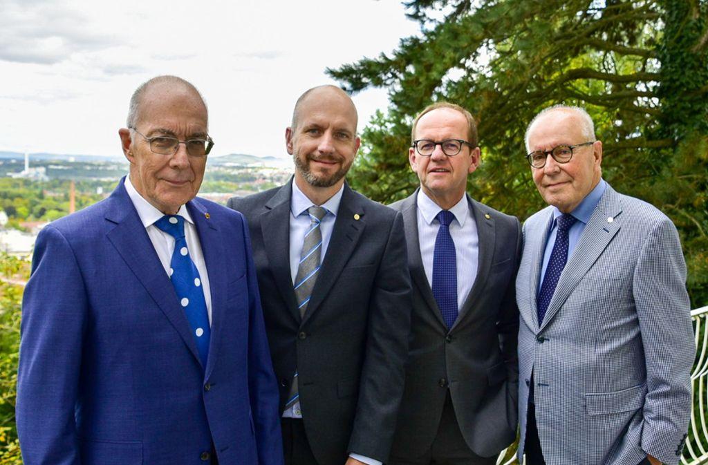 Geschäftsführende Gesellschafter der zweiten und dritten Generation: Eckhard H. Burgdorf, Frank Burgdorf, Rainer Braun,  Hannes Burgdorf (v. li.). Foto: Burgdorf