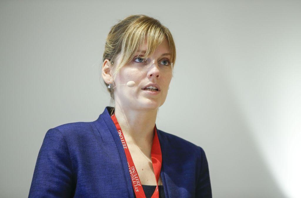 """Kristiina Omri von der Estnischen Botschaft in Berlin beim Kongress """"Stadt der Zunkunft"""" Foto: Lichtgut/Leif Piechowski"""