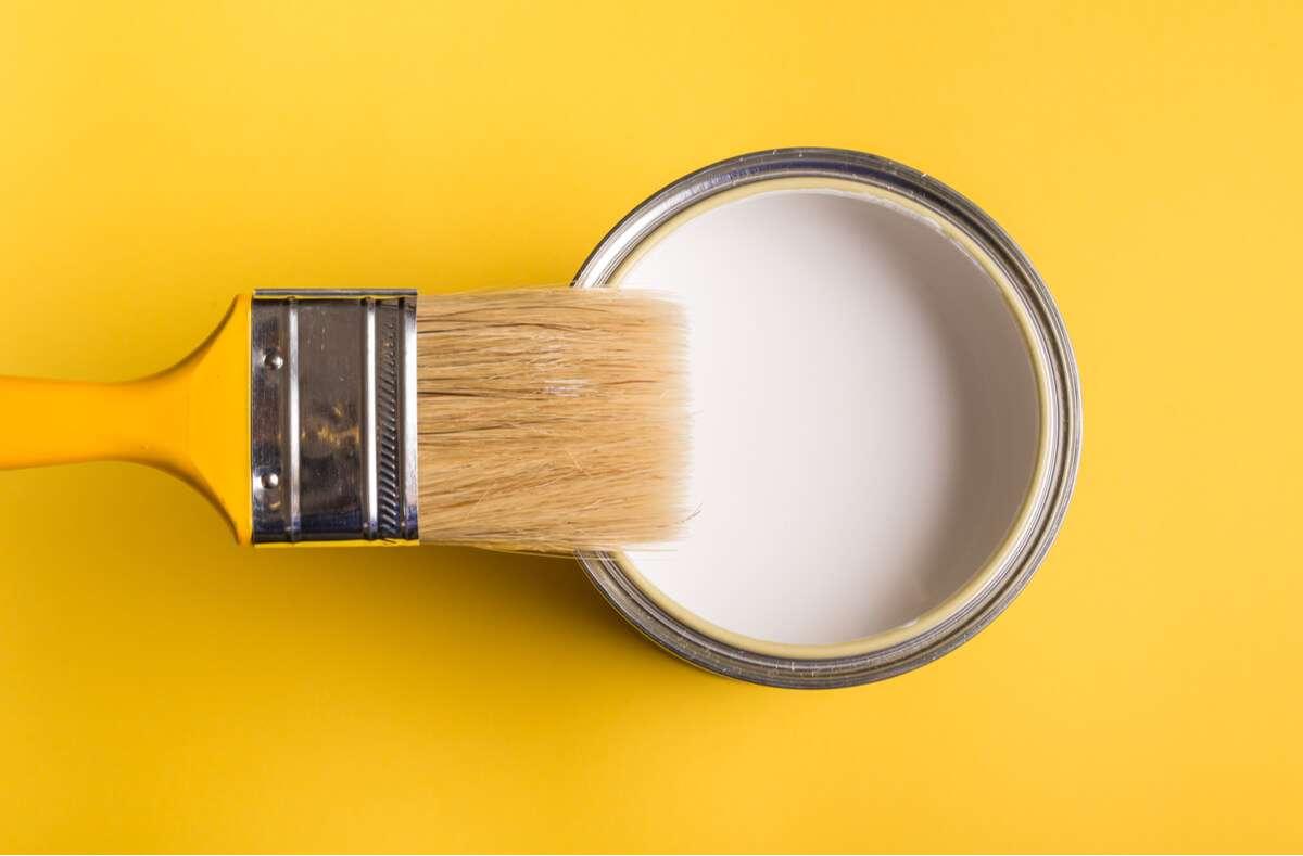 In diesem Artikel zeigen wir Ihnen, wie lange geöffnete Wandfarbe haltbar ist und worauf Sie bei der Lagerung achten müssen. Foto: Mdbildes / Shutterstock.com
