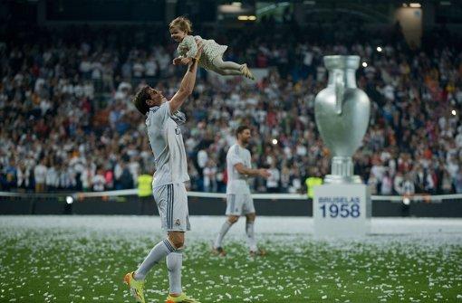 Real Madrid feiert mit Kind und Kegel