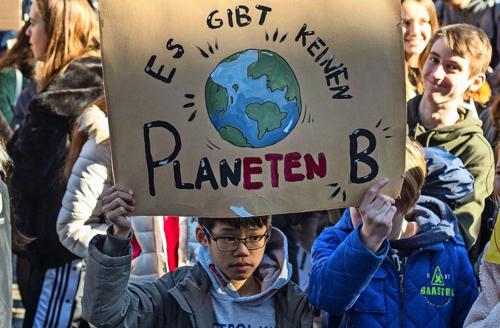 1000 Schüler haben vergangene Woche auf dem Marktplatz demonstriert. Foto: Lg/ Piechowski