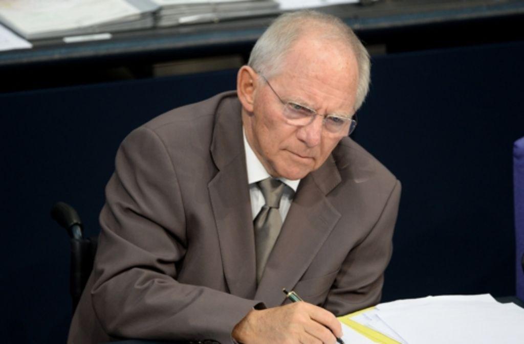 Bundesfinanzminister Schäuble will keine neuen Schulden machen. Foto: dpa