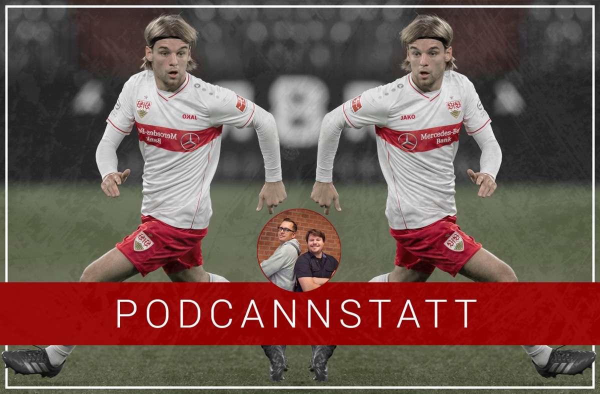 Borna Sosa spielt seinen besten Fußball, seit er beim VfB ist. Und steht deswegen im Fokus unserer 136. Folge des PodCannstatt. Foto: STZN/Baumann