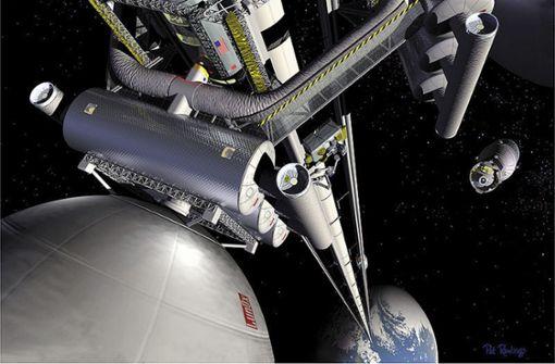 Mit dem Aufzug von der Erde zum Mond